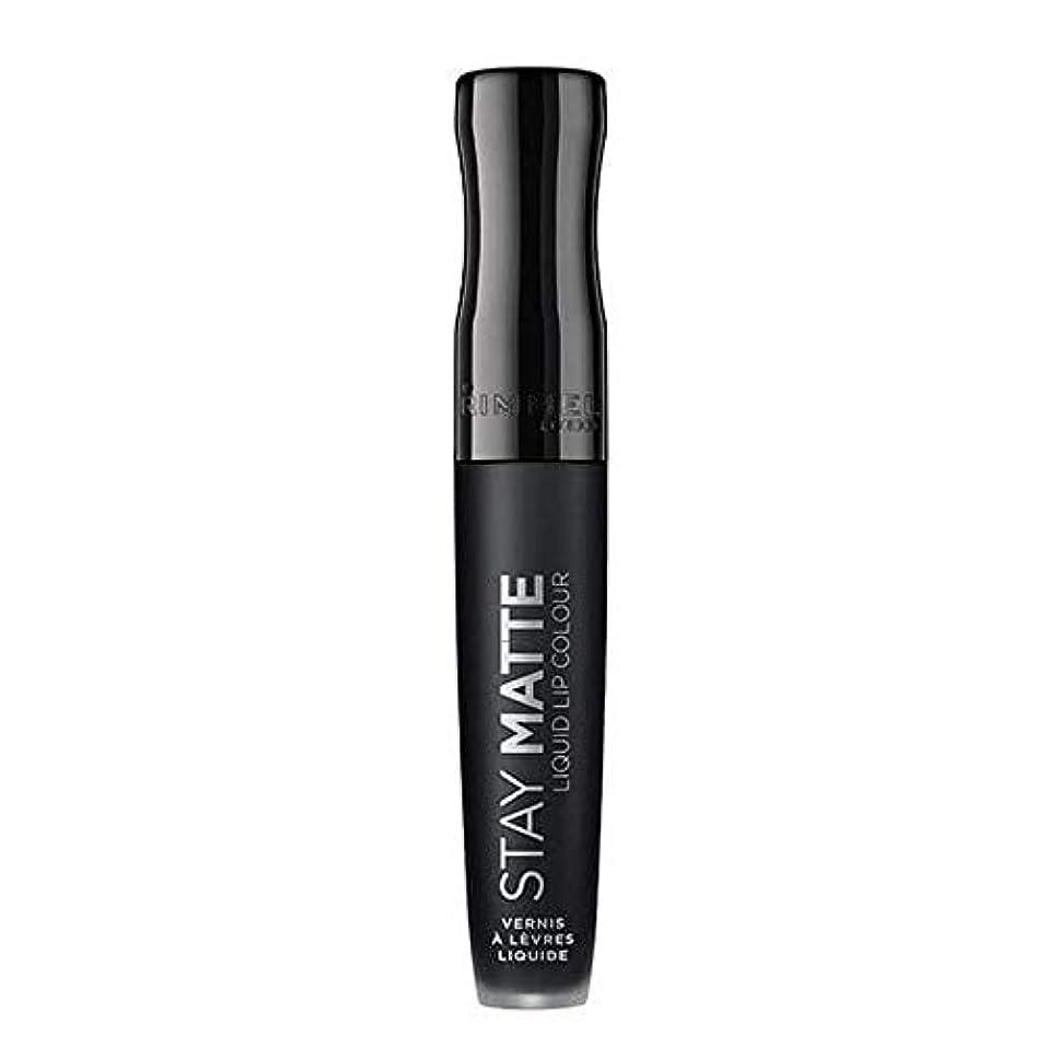 接辞早く大事にする[Rimmel ] リンメルステイマット液状口紅ピッチ黒840 - Rimmel Stay Matte Liquid Lipstick Pitch Black 840 [並行輸入品]