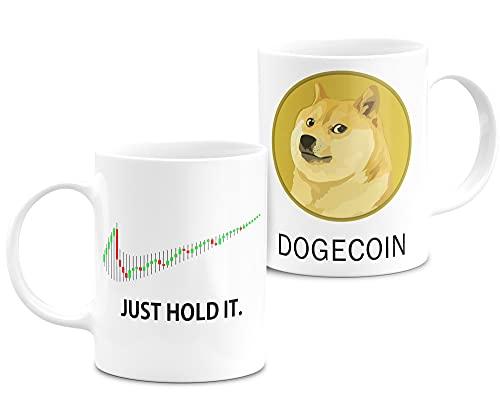 Cryptocurrency Tasse PersonalisiertTo The Moon Weiße Keramiktasse 11oz Original Gifts (Just-hold-doge)