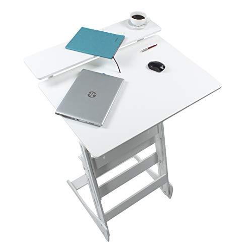Stehpult Stehtisch Typ Dww - Holz - Tisch höhenverstellbar - Farbe: weiß- Adjust Standing Desk- Kontorka