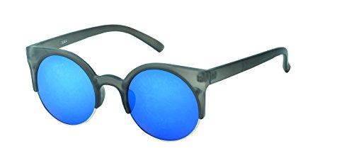 Chic-Net Lunettes de Soleil Dames sur Sun Glasses Vintage Cat Eye Style rétro 400UV Bleu