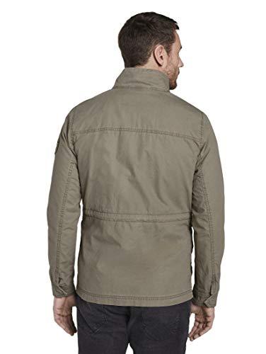 TOM TAILOR Herren Jacken Jacke mit hohem Kragen Coastal Fog Beige,S,10941,8448