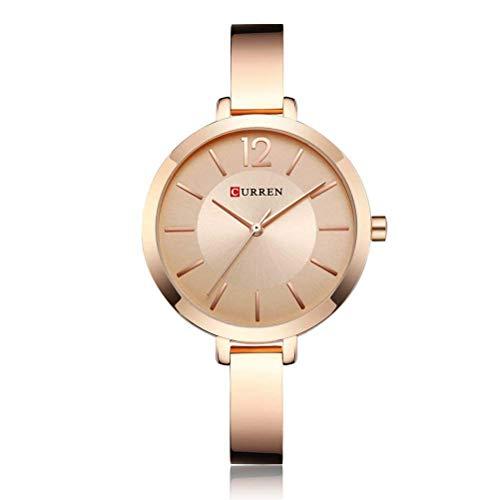 xisnhis schöne Uhren curren9012 gut Stahl mit Rose Gold Frauen auf Quarz - Uhr