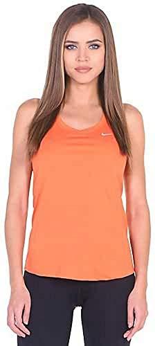 Nike Damen Miler Tank Lauf-Tanktop, Turf orange/Reflektives Silber, M