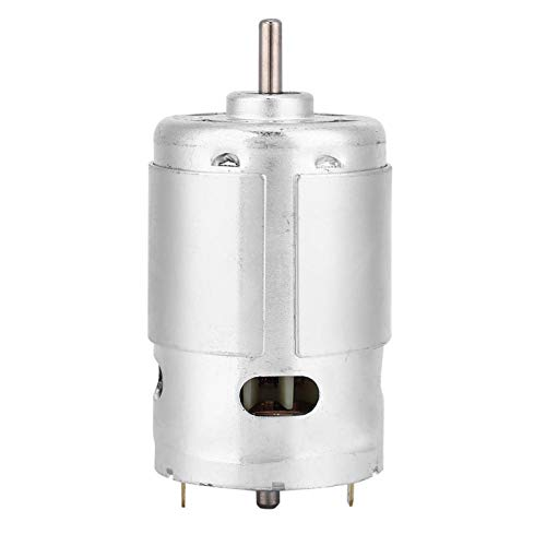 Motor de CC de Alta Potencia con rodamiento de Bolas Doble de 12 V 3000 RPM de bajo Ruido para máquinas de Correa para Sierras de Cinta para máquinas de Corte