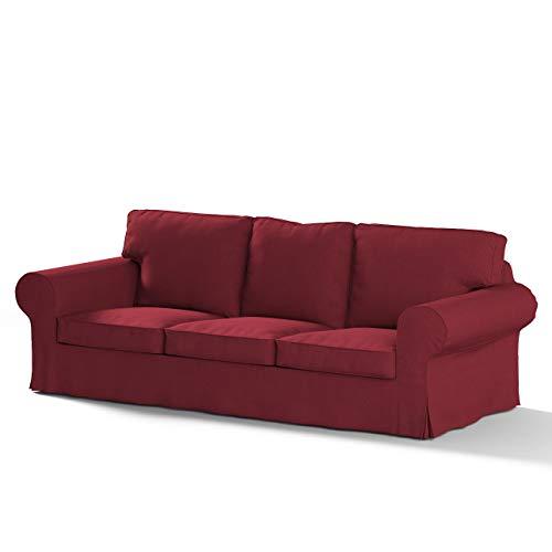 Dekoria Ektorp 3-Sitzer Sofabezug Nicht ausklappbar Sofahusse passend für IKEA Modell Ektorp Bordeaux