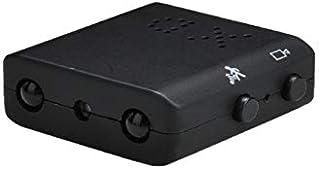 Mini Vigilancia Cámara Oculta Gran Angular Full HD 1080P Videocámara de Seguridad Portátil DV Pequeña Cámara de Niñera con Visión Nocturna por Infrarrojos y Detección de Movimiento(No Memory Card)