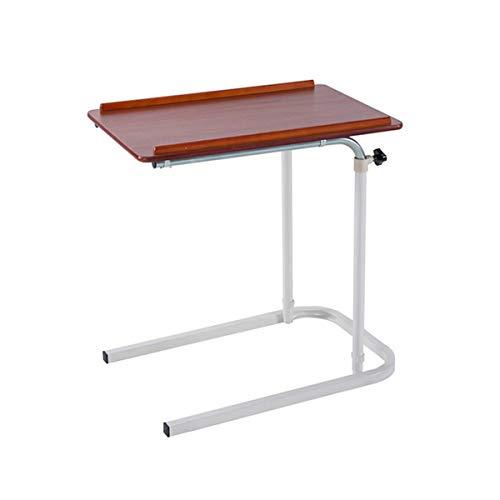 LYLSXY Mesa, Mesa de inclinación y Ajustable, Mesa de Noche, Mesa de Estudio, Escritorio, Adecuado para Beber o Comer en la Cama (Color : Red Cherry)