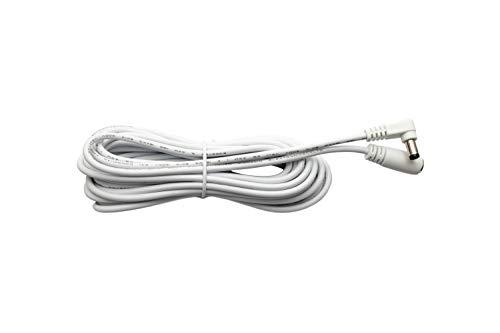 DC Verlängerungskabel 5m Strom DC Kabel in weiß/DC-Hohlsteckerbuchse/DC-Hohlstecker im Format 5,5mm x 2,1mm - 5 Meter