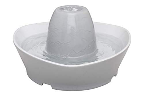 PetSafe Fuente De Cerámica para Mascotas Dulce Arroyo De, Capacidad De 1,8 litros De Agua, Diseño Silencioso, Agua Filtrada, Anima A Las Mascotas A Beber Más Agua 2595 g