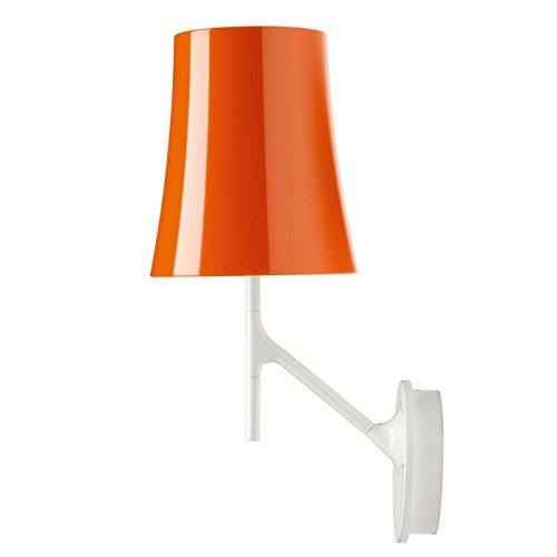 Lámpara/Aplique de Pared, Casquillo E27, 25W, versión dimable, de policarbonato y Acero Pintado, Modelo Birdie , 17 x 24 x 42 centímetros, Color Blanco (Referencia: 2210052DM 10)