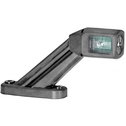 HELLA 2XS 011 769-091 LED Gummiarm-Umrissleuchte mit integrierter Seitenmarkierungsleuchte, horizontal, Quicklink-Verbinder, links, 670 mm Leitung