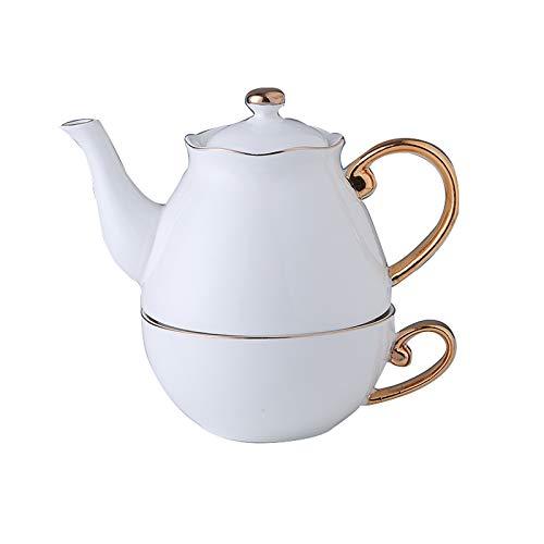 XJAXY Tetera de cerámica, 20 onzas, macetas de té de Porcelana para té, café, con Tapa para Regalos, Fiesta, Familia, acción de Gracias, Navidad, té de Porcelana de Utensilios de té para uno,B