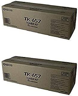 Kyocera TK-657 (TK657/TK659) OEM Toner Cartridge 2 Pack, 7200 Page-Yield Per Ctg, Black