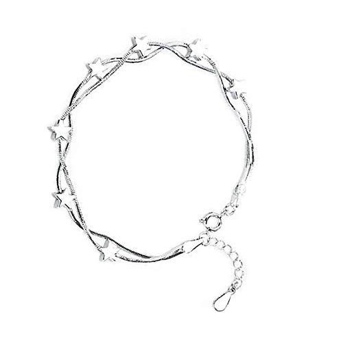 Pulsera de plata de ley 925, regalo de estrella para hermanas, amigas y madres