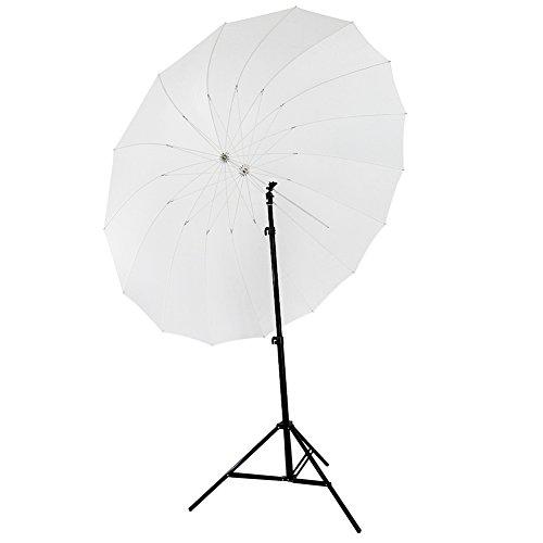 Neewer 185cm Weißer Diffusions Parabolische Schirm 16 Fiberglass Rippen 7mm enthält Tragbare Tragetasche