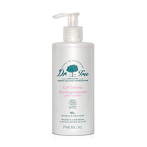 Dr. Tree | Gel Intimo Dermoprotector Hipoalergénico | Higiene e Hidratación ECO | Refuerza Microbioma de tu Piel, Restaura Flora, Elimina el Olor y Calma los Picores | 300ml