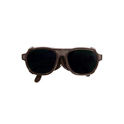 Schweißerbrille Nylon DIN 4-6 mit Bügel und Seitenschutz, UV-Schutz, DIN EN 166, Autogen-Schweißen - schweisser-king.de: - Schutzbrille, Schweißbrille, Schweißschutzbrille, Ausführung:DIN 6