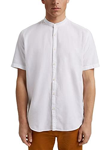 ESPRIT Kurzarm-Hemd mit Struktur, Organic Cotton