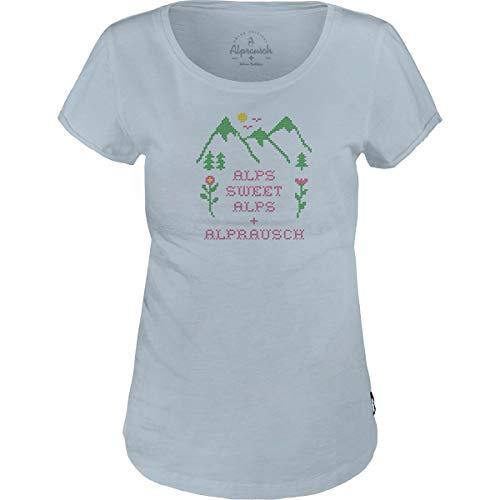 Alprausch Damen Chrüzlistich T-Shirt, Ballad Blue, XXL