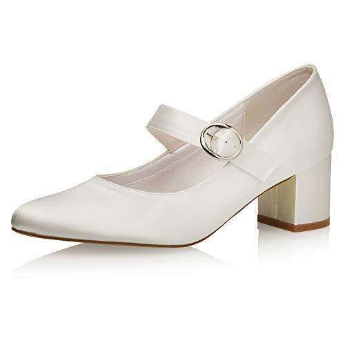 Rainbow Club Zapatos de novia Annemarie - Zapatos de tacón para mujer,...