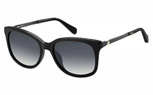 Fossil Womens Sunglasses FOS2079S (Black, Dark Gray)