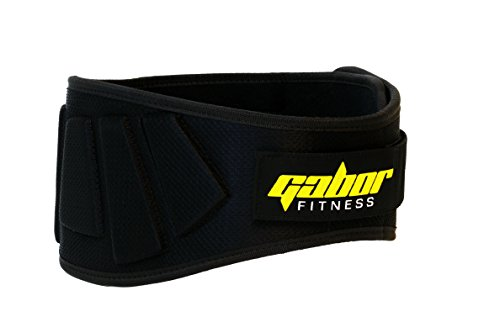 Gabor fitness contoured neoprene back support weightlifting belt image