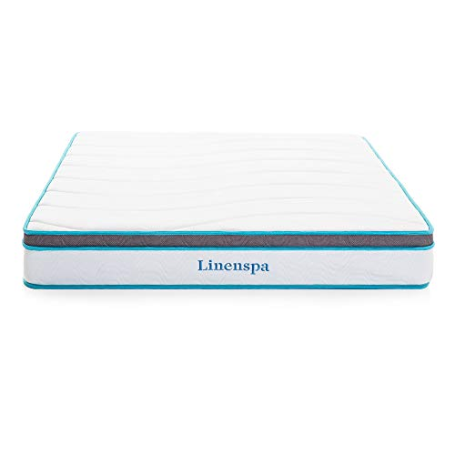 Linenspa Hybrid Federkernmatratze mit Memory-Schaum, H3-H4, Höhe 20cm, 140 x 200