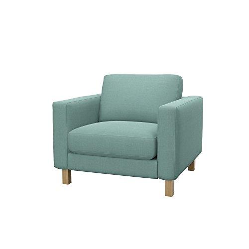 Soferia Bezug fur IKEA KARLSTAD Sessel, Stoff Elegance Mint