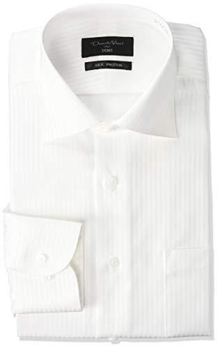 [コナカ] 形態安定加工/衿・カフスボタン根巻き仕様など高級素材と高級仕立て/オールシーズン/スタイリッシュシルエット【細すぎないすっきりスリム】/選べるバリエーション【ボタンダウン/ワイドカラー】/メンズワイシャツ YS-DV-UOMO 白織り柄/長袖/