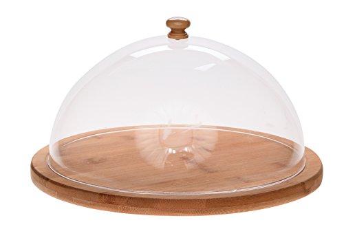 Cosy Trendy 920013 Kaas van natuurlijk bamboehout, diameter 27 cm x 6,5 cm
