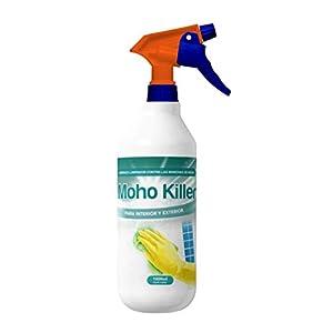 Spray Limpia Moho 1 Litro para paredes, juntas, azulejos, baldosas, baño, suelo, ducha y resto de superficies con humedad/fórmula anti moho quita mancha de humedades limpiador de juntas