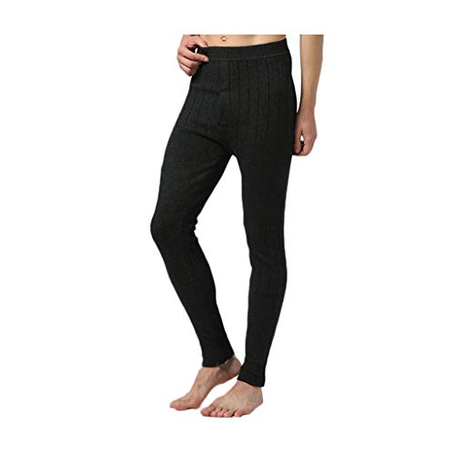 Unterhose PING Warme Thermo, Verdicken Kaschmir Hohe Taille Slim Fit Warm Halten Super Bombe Kaschmir-Leggings, Unverzichtbar for Herbst Und Winter Tricolor (Color : Black Gray, Size : XL)