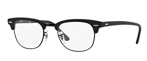 Ray-Ban RX5154 Clubmaster Eyeglasses 100% Authentic (49, Matte Black Frame)