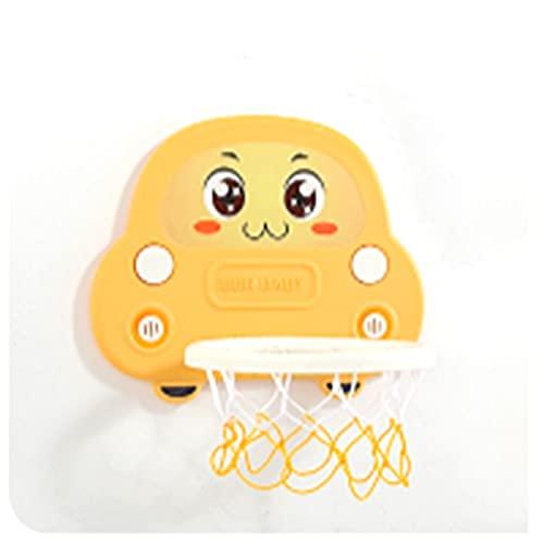 Tablero de Baloncesto Hoop de Baloncesto para niños, aro de Baloncesto Interior Plegable para bebés, asco de Baloncesto para bebés y niños pequeños (Color : Yellow)