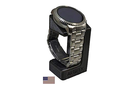 Artifex Design Stand Compatible with Fossil Q Explorist, Q Venture Gen 3 Smartwatch (Will not fit 2018 HR Model, Black)