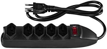 Protetor Eletrônico Intelbras com 5 tomadas EPE 1005 Preto