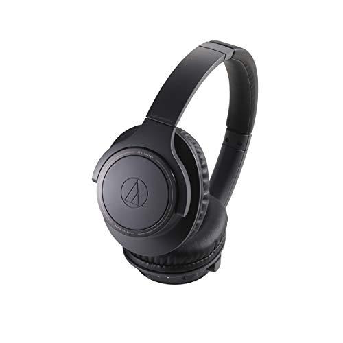 Audio-Technica ATH-SR30BT - Auriculares Inalámbricos, Diseño plano plegable, Compatible con códec AAC y tecnología Bluetooth v5, Color Negro