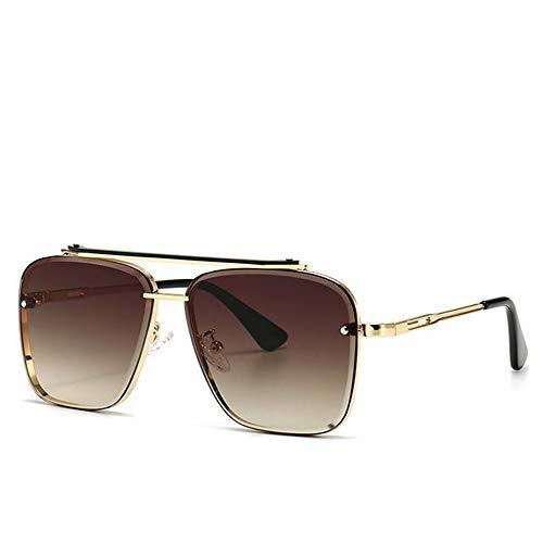 UKKD Gafas de sol Moda Classic Mach Seis Style Gradient Gafas De Sol Greal Hombres Vintage Gafas De Sol