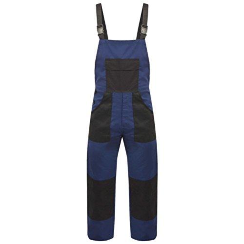 vidaXL Mono de Trabajo de Hombre con Tirantes y Bolsillos de Talla L Color Azul