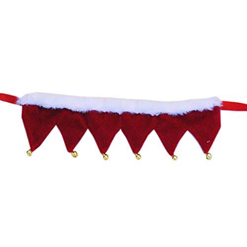 Yushu - Pañuelos para perros de Navidad, bufanda de felpa para perros, decoración de babero para perros, collar ajustable, pañuelo para mascotas, toalla de saliva para gatos, accesorios para aseo