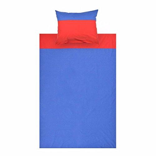Parure de lit enfant Parure de lit multicolores Parure de lit garnituren Parure de lit 200 x 140 cm Taie d'oreiller 50 X 70 Enfant Garçon Fille Coton Taille Lit Bébé Enfants – Parure de lit, Parure de lit pour enfants 2 pièces, couleur : bleu/rouge