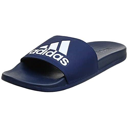 Adidas Adilette Comfort, Scarpe da Spiaggia e Piscina Uomo, Blu, 37 EU