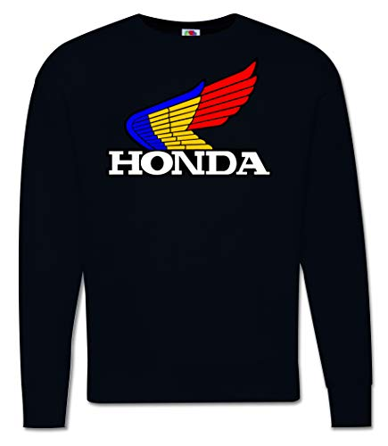 Felpa Girocollo Ispirata Honda NSR HRC Vintage Hoodie Freddy Spencer Moto Bike Race Racing (XL, Nero)