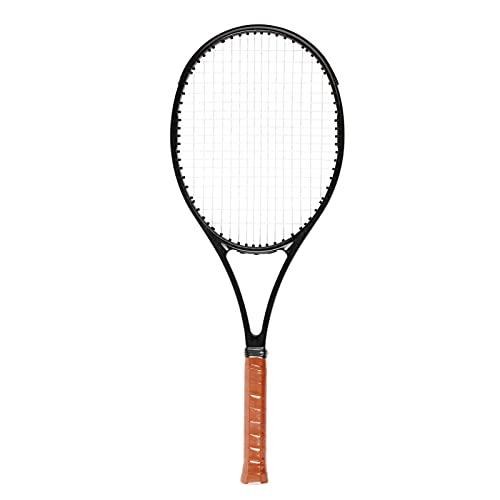Doorslay Raqueta de Tenis de Fibra de Carbono con Mango de Madera Raqueta de Tenis Ligera a Prueba de Golpes para Adultos