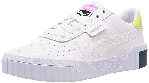 PUMA Cali WNS, Zapatillas para Mujer, Blanco White/Luminous Pink, 37.5 EU