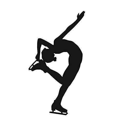 Silhouette Girls Ice Skater Dance muursticker zelfklevend Art Wall Decal Sport Vinyl decoratie voor thuis voor de muur dicht bij de deur 44 x 78 cm