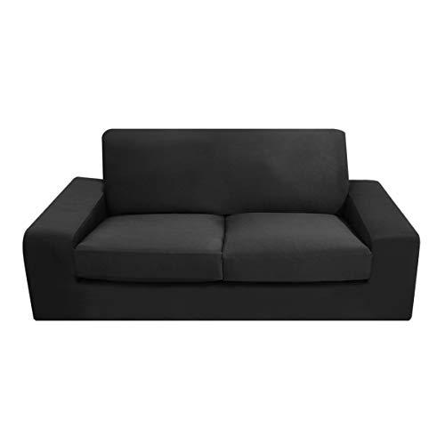 WINOMO Housse de Canapé Salon Couverture Extensible 3 places sofa housses Spandex Décor(Noir)
