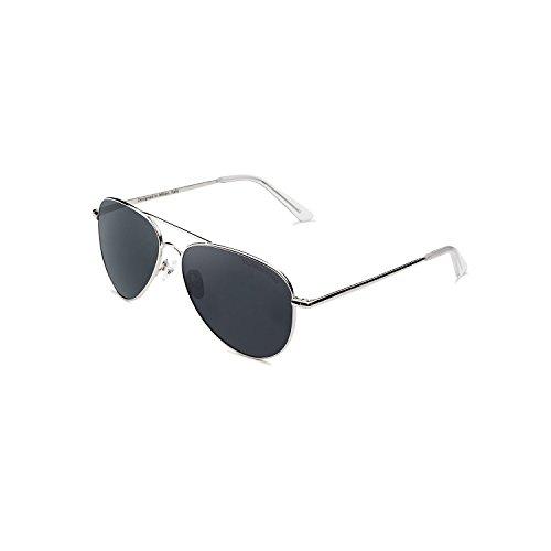 CLANDESTINE A10 Silver Blue Grey - Gafas de Sol de Nylon HD Hombre & Mujer