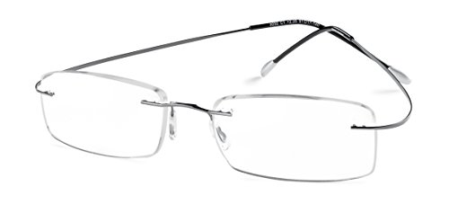 Specs Flexible Rimless Reading Glasses (Shiny Dark Gunmetal) +1.00
