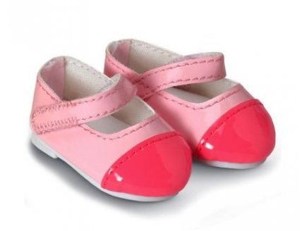 Corolle - y5463a - chaussures vernies roses 36 cm pour poupee mademoiselle (520)